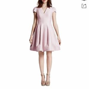 HALSTON HERITAGE Tulip Skirt Dress Barely Pink US4